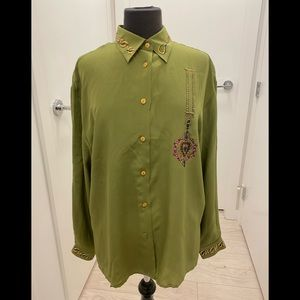 Oliver green blouse M